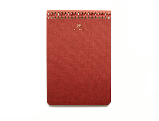 postalco-notebook-made-in-japan-graph-paper-pressed-cotton-signal-red